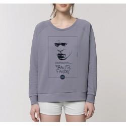 Sweat-shirt femme Frantz Fanon - gris lavande