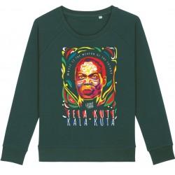 Sweat-shirt femme Fela Kuti - vert bouteille
