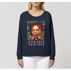 Sweat-shirt femme Fela Kuti - bleu nuit