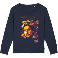 Sweat-shirt femme Ahmed Chah Massoud - bleu nuit