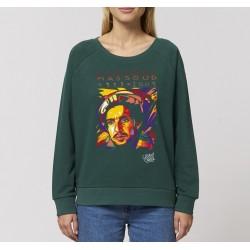 Sweat-shirt femme Ahmed Chah Massoud - vert bouteille