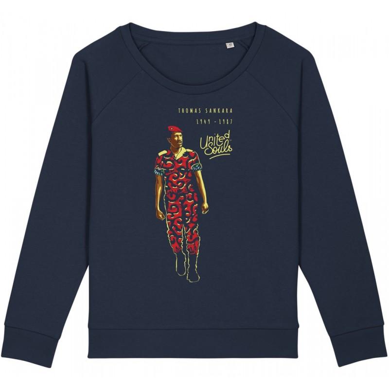 Sweat-shirt femme Thomas Sankara - bleu nuit