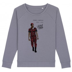Sweat-shirt femme Thomas Sankara - gris lavande