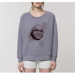 Sweat-shirt femme Rosa Parks - gris lavande