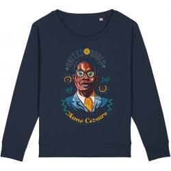 Sweat-shirt femme Aimé Césaire - bleu nuit