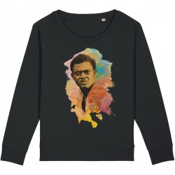 Sweat-shirt femme Patrice Lumumba Color - noir