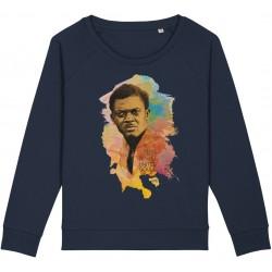 Sweat-shirt femme Patrice Lumumba Color - bleu nuit