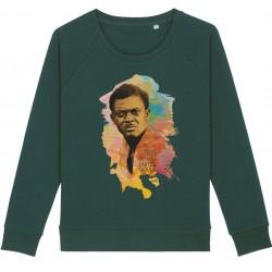 Sweat-shirt femme Patrice Lumumba Color - vert bouteille