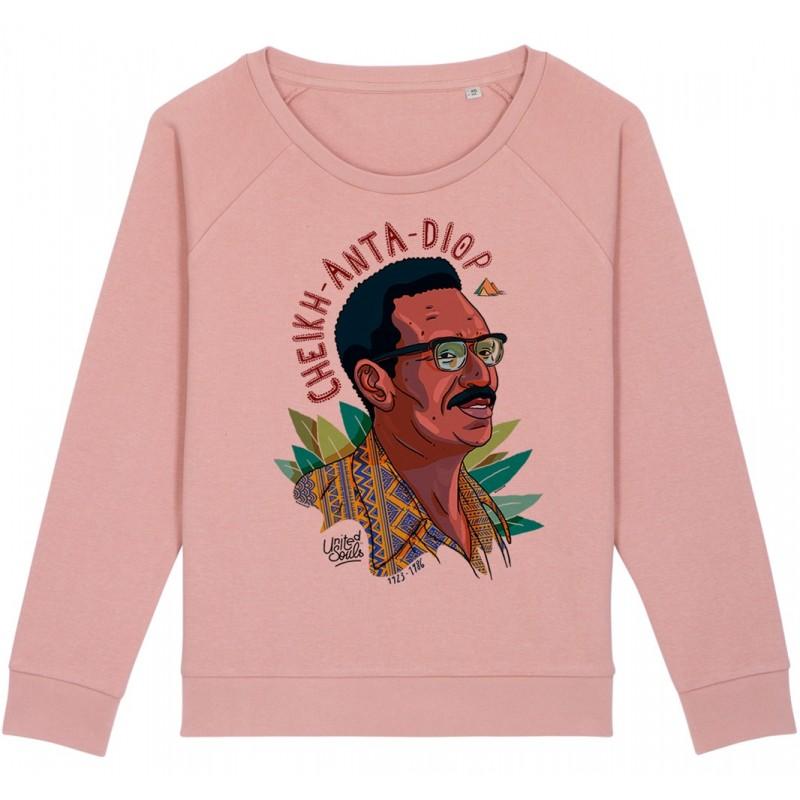 Sweat-shirt femme Cheikh Anta Diop - rose