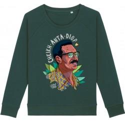 Sweat-shirt femme Cheikh Anta Diop - vert bouteille