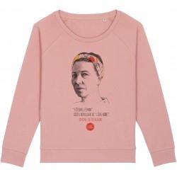 Sweat-shirt femme Simone de Beauvoir - rose