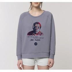 Sweat-shirt femme James Baldwin - gris lavande