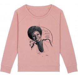 Sweat-shirt femme Nina Simone - rose