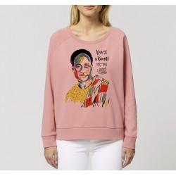 Sweat-shirt femme Kwame Nkrumah - rose