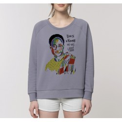 Sweat-shirt femme Kwame Nkrumah - gris lavande
