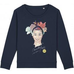 Sweat-shirt femme Marielle Franco - bleu nuit