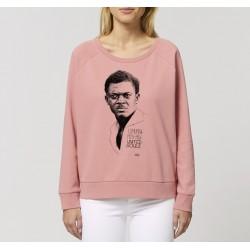Sweat-shirt femme Patrice Lumumba - rose