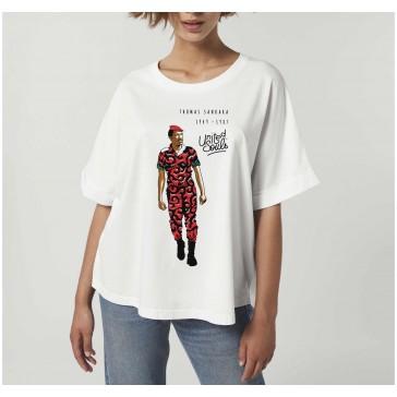 T-shirt femme coton bio Sankara couleur blanc