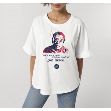 T-shirt oversize à manches retroussées | James Baldwin