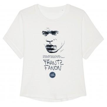 T-shirt femme bio Frantz Fanon couleur blanc