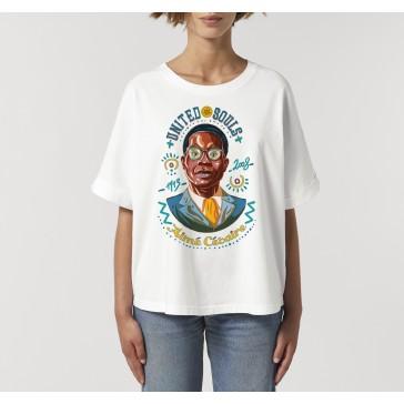 T-shirt oversize à manches retroussées | Aimé Césaire