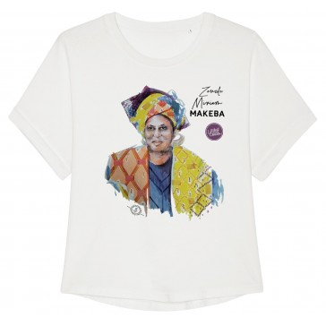 T-shirtt oversize à manches retroussées | Miriam Makeba