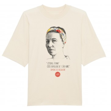 T-shirt unisex oversize | Simone de Beauvoir