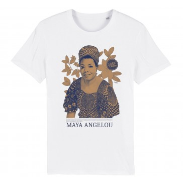 T-shirt bio | Maya Angelou color : white