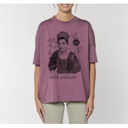 T-shirt unisex oversize | Maya Angelou  Mauve