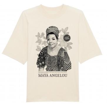 T-shirt unisex oversize | Maya Angelou  vintage white