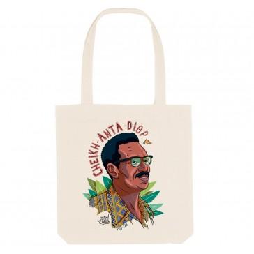 Tote bag écologique Cheikh Anta Diop - couleur blanc