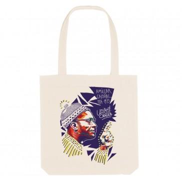 Tote bag écologique Amilcar Cabral - couleur blanc