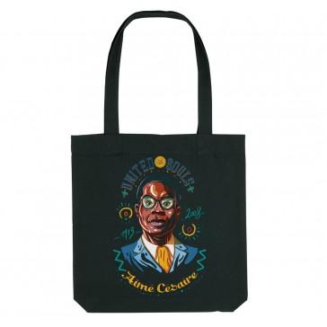 Tote bag écologique Aimé Césaire - couleur noir