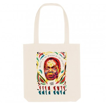 Tote bag écologique Fela Kuti - couleur blanc