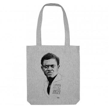 Tote bag écologique Patrice Lumumba Classic - couleur gris