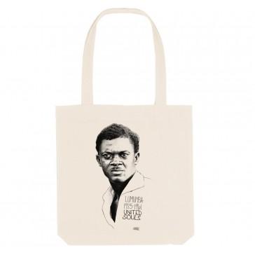 Tote bag écologique Patrice Lumumba Classic - couleur blanc
