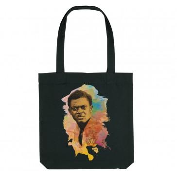 Tote bag écologique Patrice Lumumba - Couleur noir