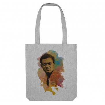 Tote bag écologique Patrice Lumumba - couleur gris