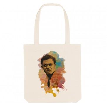 Tote bag écologique Patrice Lumumba - couleur blanc