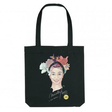 Tote bag LGBT écologique Marielle Franco - couleur noir