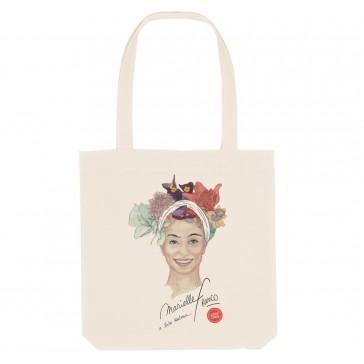 Tote bag LGBT écologique Marielle Franco - couleur blanc