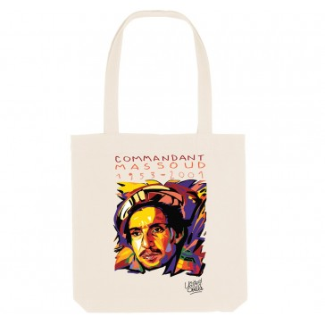 Tote bag écologique Ahmed Chah Massoud- couleur blanc