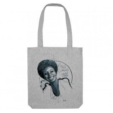 Tote bag écologique Nina Simone - couleur gris