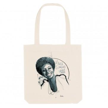 Tote bag écologique Nina Simone - couleur blanc
