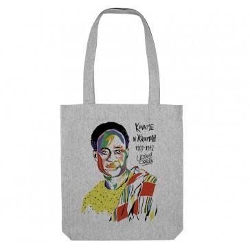 Tote bag écologique Kwame Nkrumah - couleur gris