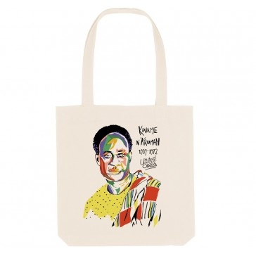 Tote bag écologique Kwame Nkrumah - couleur blanc