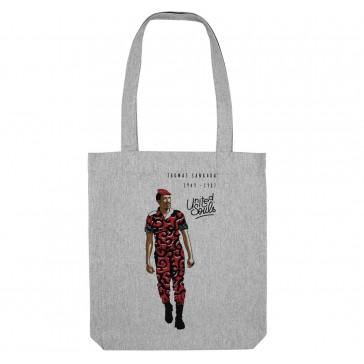 Tote bag écologique Thomas Sankara  - couleur gris