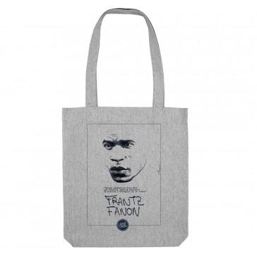 Tote bag écologique Frantz Fanon - couleur gris