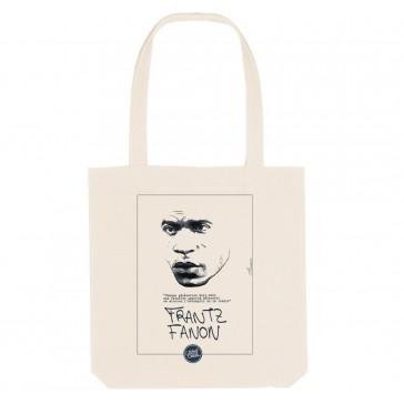 Tote bag éco-responsable  Frantz Fanon - couleur blanc